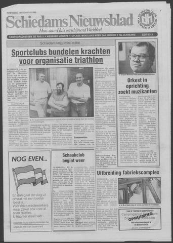 Schiedams Nieuwsblad 1985-08-14