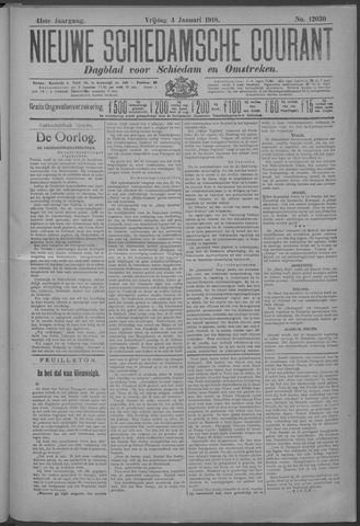 Nieuwe Schiedamsche Courant 1918-01-04