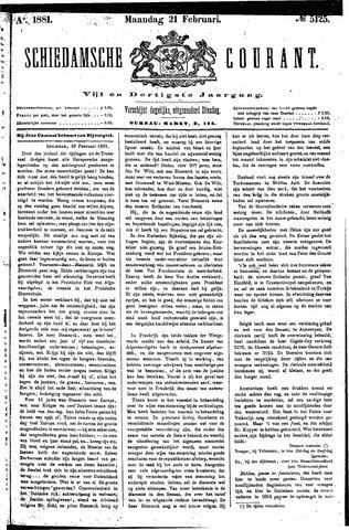 Schiedamsche Courant 1881-02-21