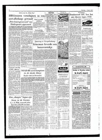 Rotterdamsch Parool / De Schiedammer 1955-03-07