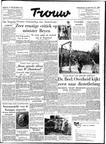 Trouw / De Rotterdammer 1955-09-16