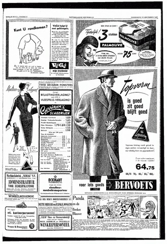 Rotterdamsch Nieuwsblad / Schiedamsche Courant / Rotterdams Dagblad / Waterweg / Algemeen Dagblad 1953-09-17