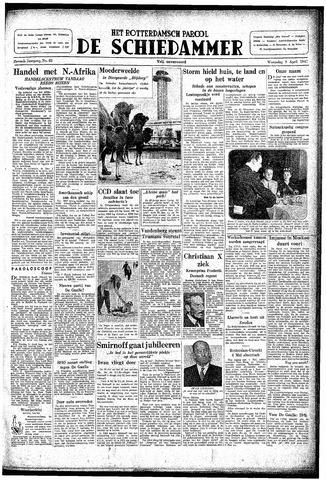 Rotterdamsch Parool / De Schiedammer 1947-04-09