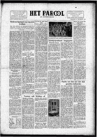 Rotterdamsch Parool / De Schiedammer 1946-09-16