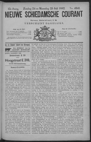 Nieuwe Schiedamsche Courant 1892-07-25