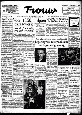 Trouw / De Rotterdammer 1958-02-28