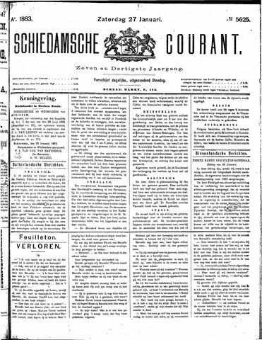 Schiedamsche Courant 1883-01-27