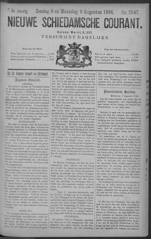 Nieuwe Schiedamsche Courant 1886-08-09