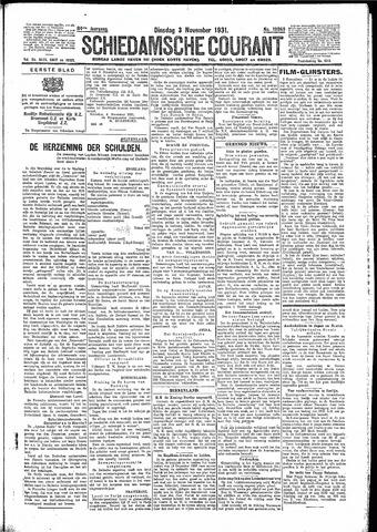 Schiedamsche Courant 1931-11-03