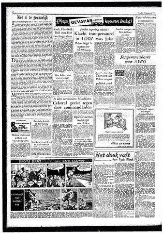Rotterdamsch Parool / De Schiedammer 1957-08-23
