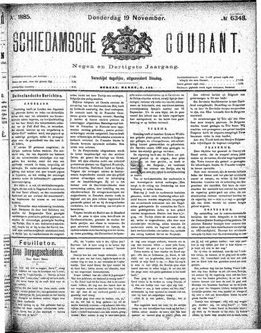 Schiedamsche Courant 1885-11-19