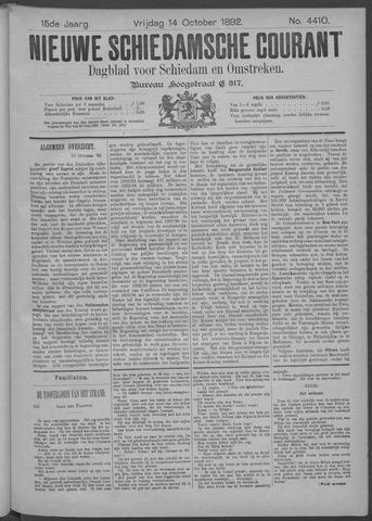 Nieuwe Schiedamsche Courant 1892-10-14