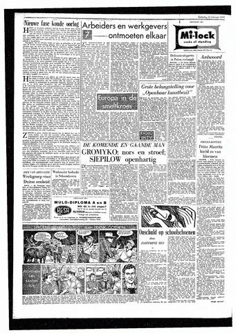 Rotterdamsch Parool / De Schiedammer 1957-02-16