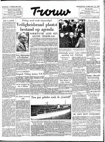 Trouw / De Rotterdammer 1955-02-01