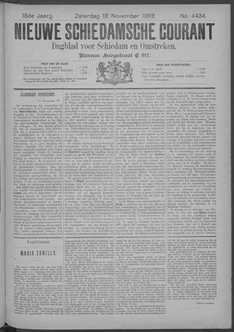 Nieuwe Schiedamsche Courant 1892-11-12
