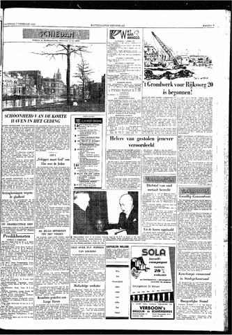 Rotterdamsch Nieuwsblad / Schiedamsche Courant / Rotterdams Dagblad / Waterweg / Algemeen Dagblad 1959-02-07