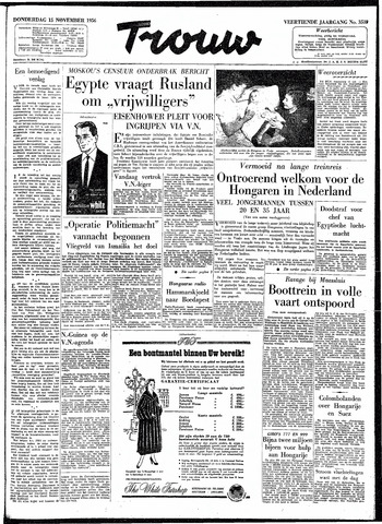 Trouw / De Rotterdammer 1956-11-15