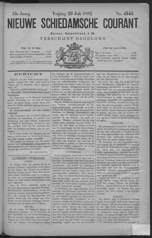 Nieuwe Schiedamsche Courant 1892-07-29