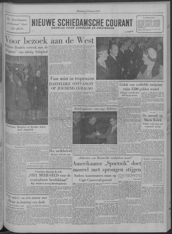 Nieuwe Schiedamsche Courant 1958-02-03
