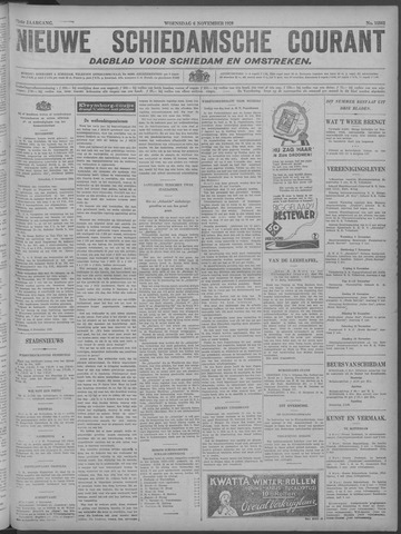 Nieuwe Schiedamsche Courant 1929-11-06