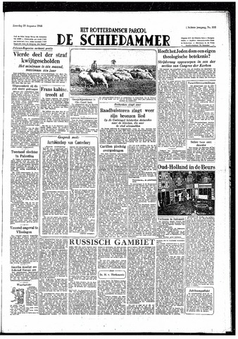 Rotterdamsch Parool / De Schiedammer 1948-08-28