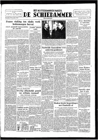 Rotterdamsch Parool / De Schiedammer 1947-12-10