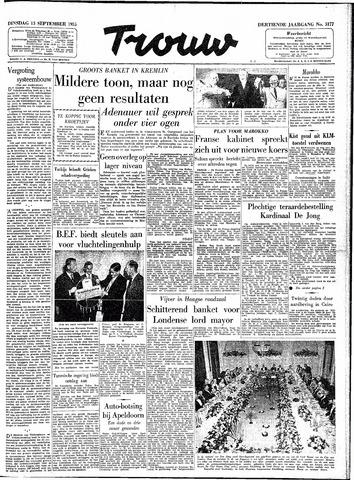 Trouw / De Rotterdammer 1955-09-13