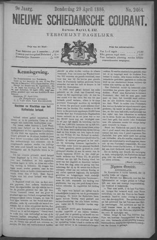 Nieuwe Schiedamsche Courant 1886-04-29