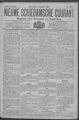 Nieuwe Schiedamsche Courant 1909-08-02