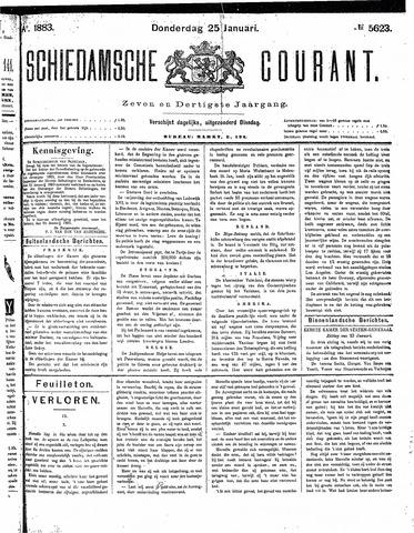Schiedamsche Courant 1883-01-25