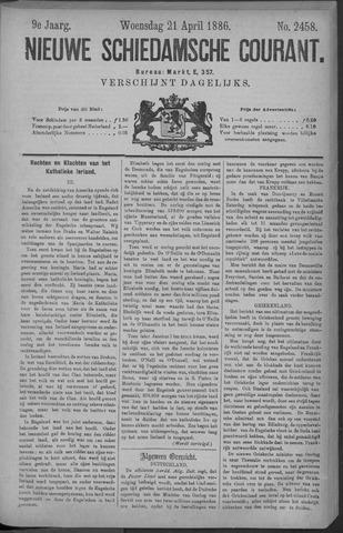 Nieuwe Schiedamsche Courant 1886-04-21