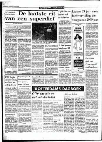 Rotterdamsch Parool / De Schiedammer 1970-10-07