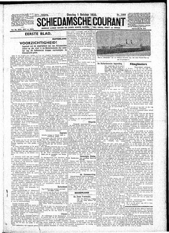 Schiedamsche Courant 1935-10-01