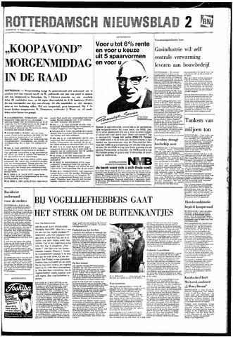 Rotterdamsch Nieuwsblad / Schiedamsche Courant / Rotterdams Dagblad / Waterweg / Algemeen Dagblad 1968-02-14