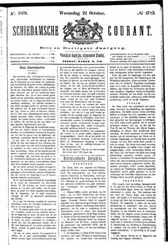 Schiedamsche Courant 1879-10-22