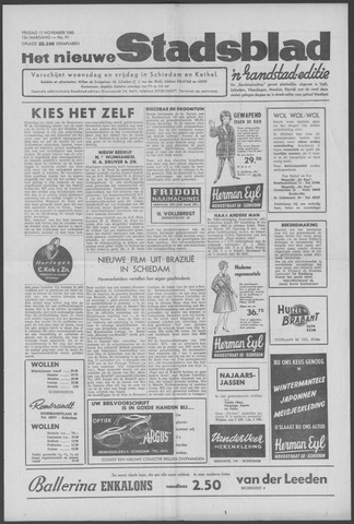 Het Nieuwe Stadsblad 1960-11-11