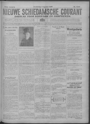 Nieuwe Schiedamsche Courant 1929-08-01