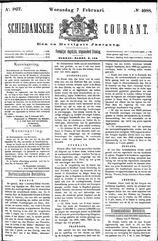 Schiedamsche Courant 1877-02-07