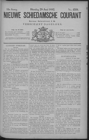 Nieuwe Schiedamsche Courant 1892-06-28