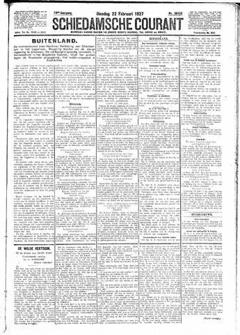 Schiedamsche Courant 1927-02-22