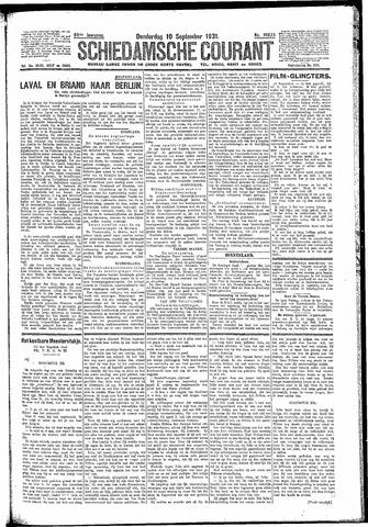 Schiedamsche Courant 1931-09-10