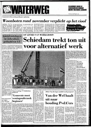 Rotterdamsch Nieuwsblad / Schiedamsche Courant / Rotterdams Dagblad / Waterweg / Algemeen Dagblad 1983-09-30