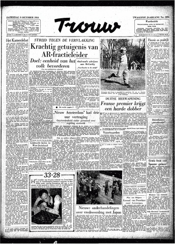 Trouw / De Rotterdammer 1954-10-09