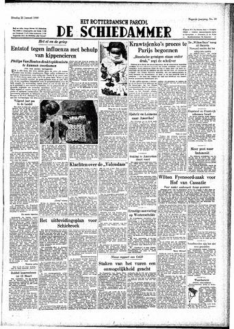 Rotterdamsch Parool / De Schiedammer 1949-01-25