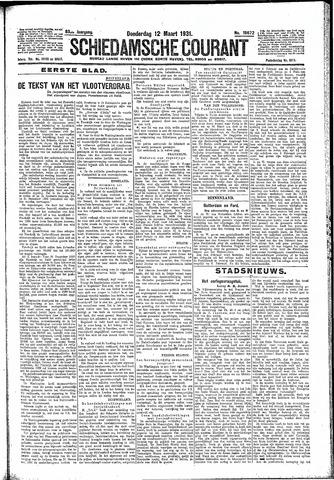 Schiedamsche Courant 1931-03-12