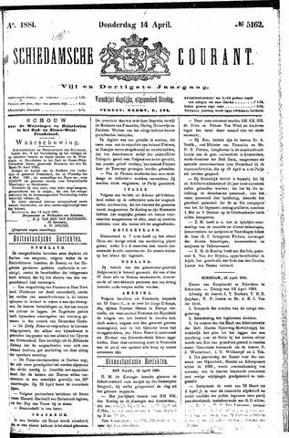 Schiedamsche Courant 1881-04-14