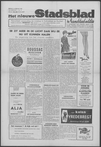 Het Nieuwe Stadsblad 1962-02-16