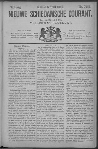 Nieuwe Schiedamsche Courant 1886-04-06