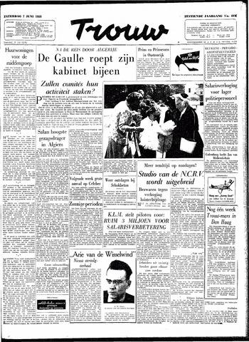 Trouw / De Rotterdammer 1958-06-07