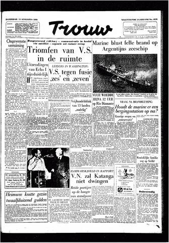 Trouw / De Rotterdammer 1960-08-13